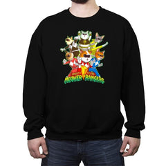 Meower Rangers - Crew Neck Sweatshirt - Crew Neck Sweatshirt - RIPT Apparel