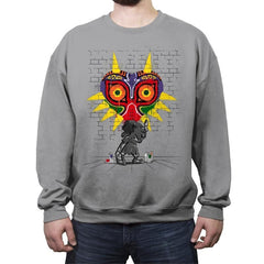 Graffiti Mask - Crew Neck Sweatshirt - Crew Neck Sweatshirt - RIPT Apparel
