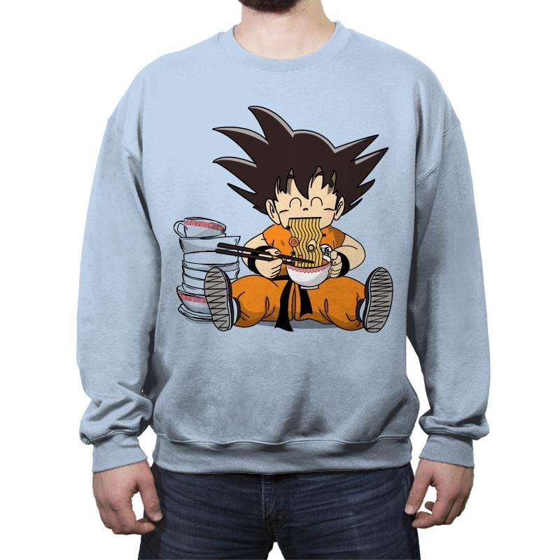 Saiyan Breakfast - Crew Neck Sweatshirt - Crew Neck Sweatshirt - RIPT Apparel