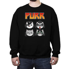 Purr Rock - Crew Neck Sweatshirt - Crew Neck Sweatshirt - RIPT Apparel