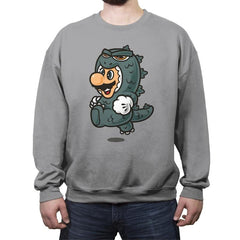 Super Jump Gojira - Crew Neck Sweatshirt - Crew Neck Sweatshirt - RIPT Apparel