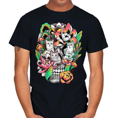 Floral Skull - Mens - T-Shirts - RIPT Apparel