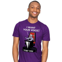 I Want Your Voice Now! - Raffitees - Mens - T-Shirts - RIPT Apparel