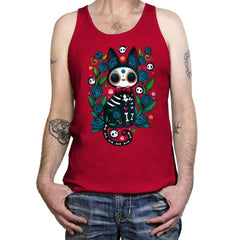 Calavera Witched Cat - Tanktop - Tanktop - RIPT Apparel