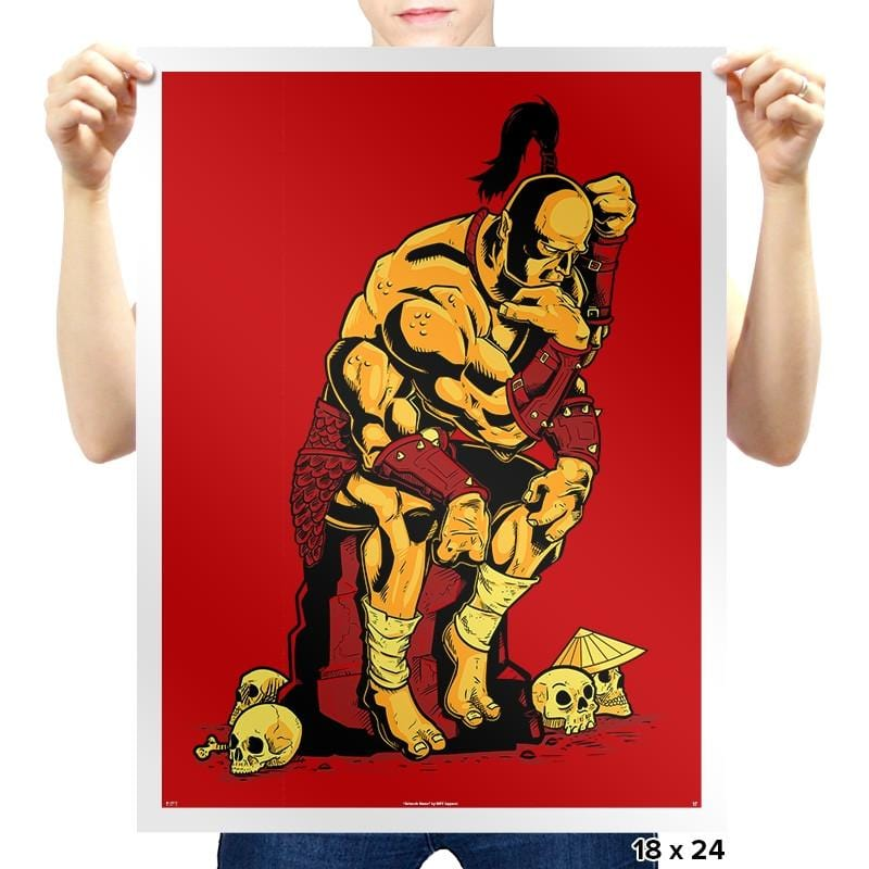 Goro The Thinker Exclusive - Prints - Posters - RIPT Apparel