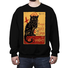 Chat Zombi - Crew Neck Sweatshirt - Crew Neck Sweatshirt - RIPT Apparel
