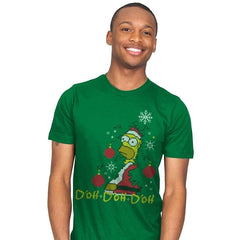 D'oh D'oh D'oh Santa Edition - Mens - T-Shirts - RIPT Apparel
