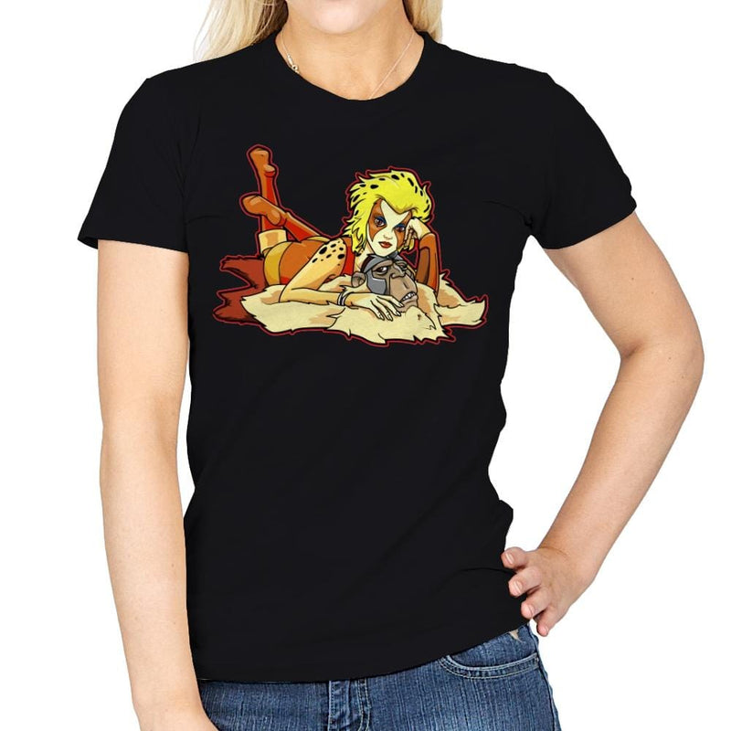 Pin-up Cheetah - Womens - T-Shirts - RIPT Apparel
