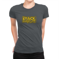 May Stack Be With You - Womens Premium - T-Shirts - RIPT Apparel