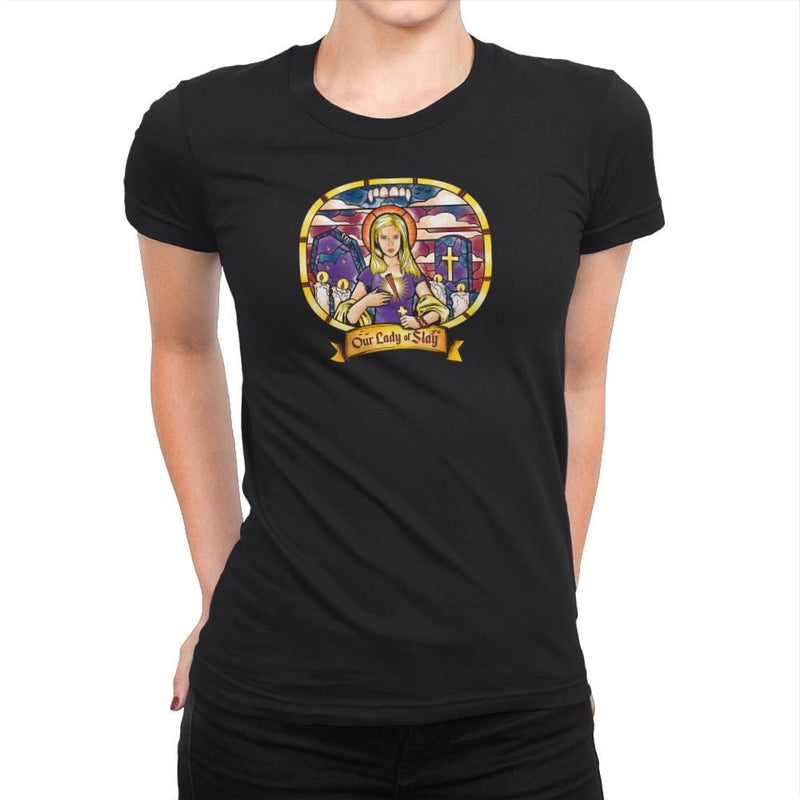Our Lady of Slay Exclusive - Womens Premium - T-Shirts - RIPT Apparel