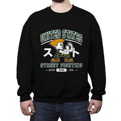 USA Street Fighting - Crew Neck Sweatshirt - Crew Neck Sweatshirt - RIPT Apparel