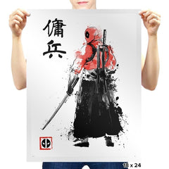 Ronin Mercenary Exclusive - Sumi Ink Wars - Prints - Posters - RIPT Apparel