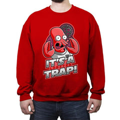 It's a Lobster Trap - Crew Neck Sweatshirt - Crew Neck Sweatshirt - RIPT Apparel