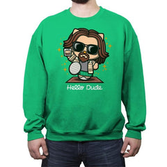 Hello Dude - Crew Neck Sweatshirt - Crew Neck Sweatshirt - RIPT Apparel