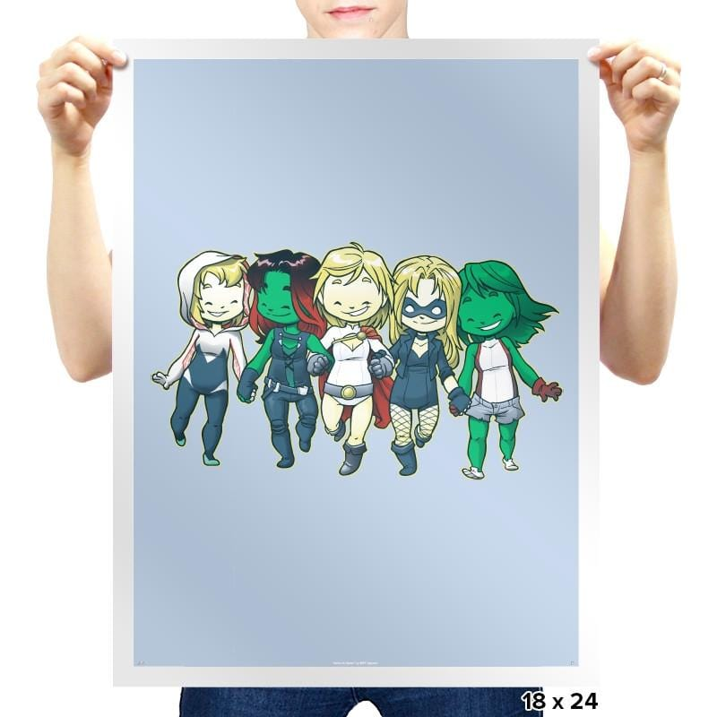 Heroic BFF's - Miniature Mayhem - Prints - Posters - RIPT Apparel