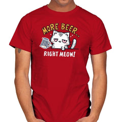 Beer Right Meow - Mens - T-Shirts - RIPT Apparel