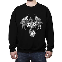 Mosaic Dragon - Crew Neck Sweatshirt - Crew Neck Sweatshirt - RIPT Apparel
