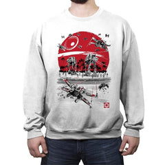Battle on the Beach - Crew Neck Sweatshirt - Crew Neck Sweatshirt - RIPT Apparel