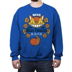 Neko Bus Tours - Crew Neck Sweatshirt - Crew Neck Sweatshirt - RIPT Apparel