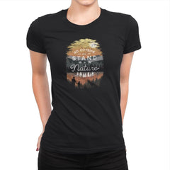 Go Outside - Back to Nature - Womens Premium - T-Shirts - RIPT Apparel