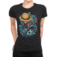 Colorful Pirate - Womens Premium - T-Shirts - RIPT Apparel