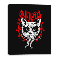Black Metal Cat - Canvas Wraps - Canvas Wraps - RIPT Apparel