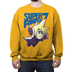 Super Fantasy 7 - Crew Neck Sweatshirt - Crew Neck Sweatshirt - RIPT Apparel
