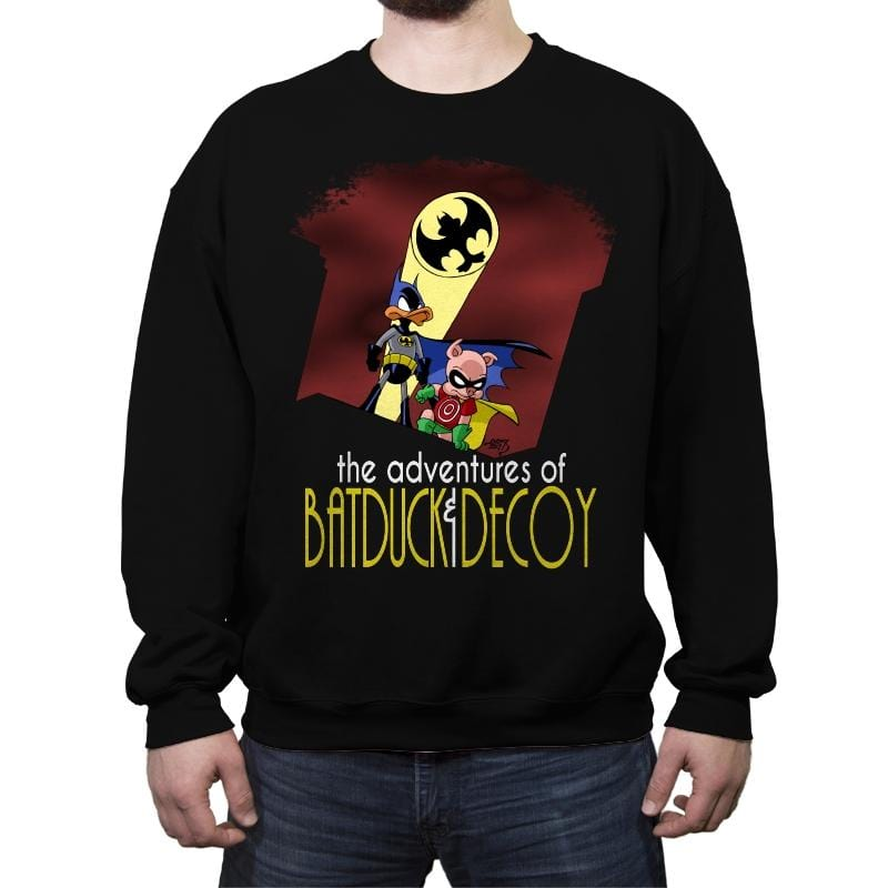 The Adventures of Batduck and Decoy - Crew Neck Sweatshirt - Crew Neck Sweatshirt - RIPT Apparel