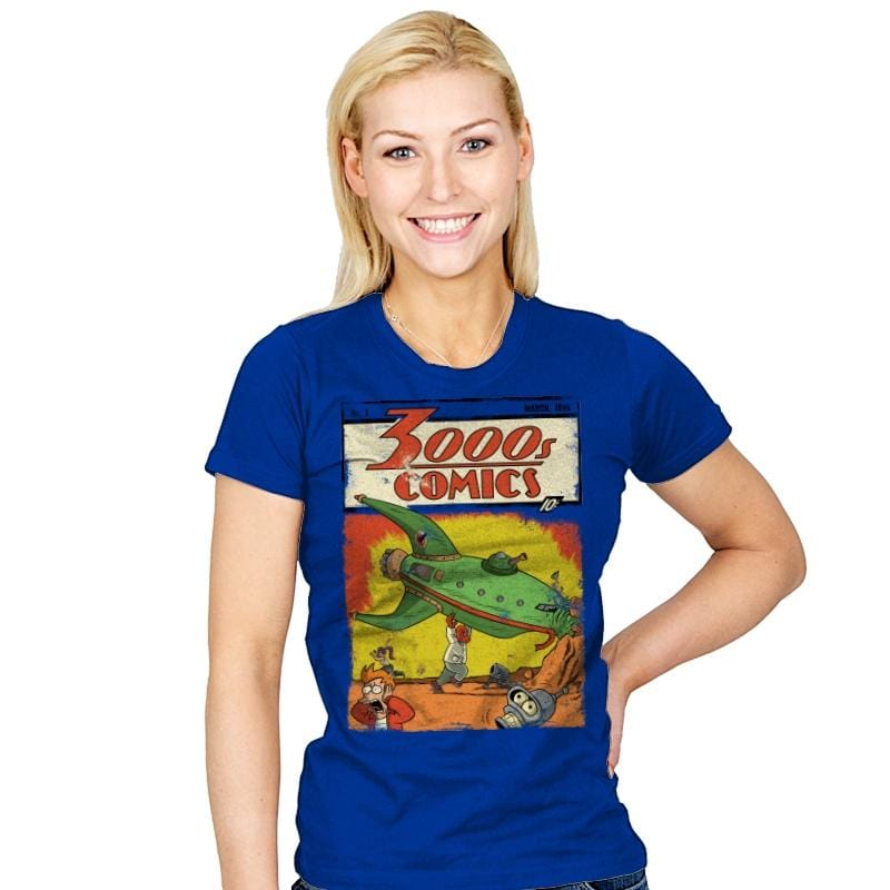 3000s Comics - Womens - T-Shirts - RIPT Apparel