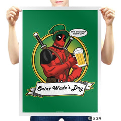 Saint Wade's Day Exclusive - St Paddys Day - Prints - Posters - RIPT Apparel