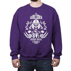 The Shredder 80's Tour - Crew Neck Sweatshirt - Crew Neck Sweatshirt - RIPT Apparel