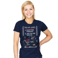Christmas List! - Ugly Holiday - Womens - T-Shirts - RIPT Apparel