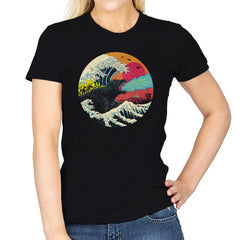Retro Wave Kaiju - Womens - T-Shirts - RIPT Apparel