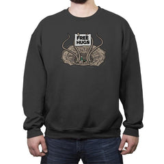 FREE HUGS - Crew Neck Sweatshirt - Crew Neck Sweatshirt - RIPT Apparel