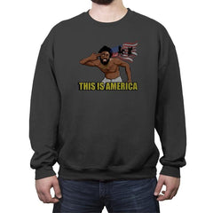 Americalands - Crew Neck Sweatshirt - Crew Neck Sweatshirt - RIPT Apparel