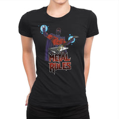 Metal Rules - Womens Premium - T-Shirts - RIPT Apparel
