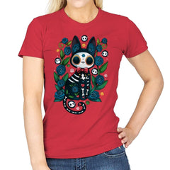 Calavera Witched Cat - Womens - T-Shirts - RIPT Apparel