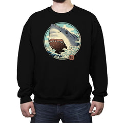 White Shark Attack! - Crew Neck Sweatshirt - Crew Neck Sweatshirt - RIPT Apparel