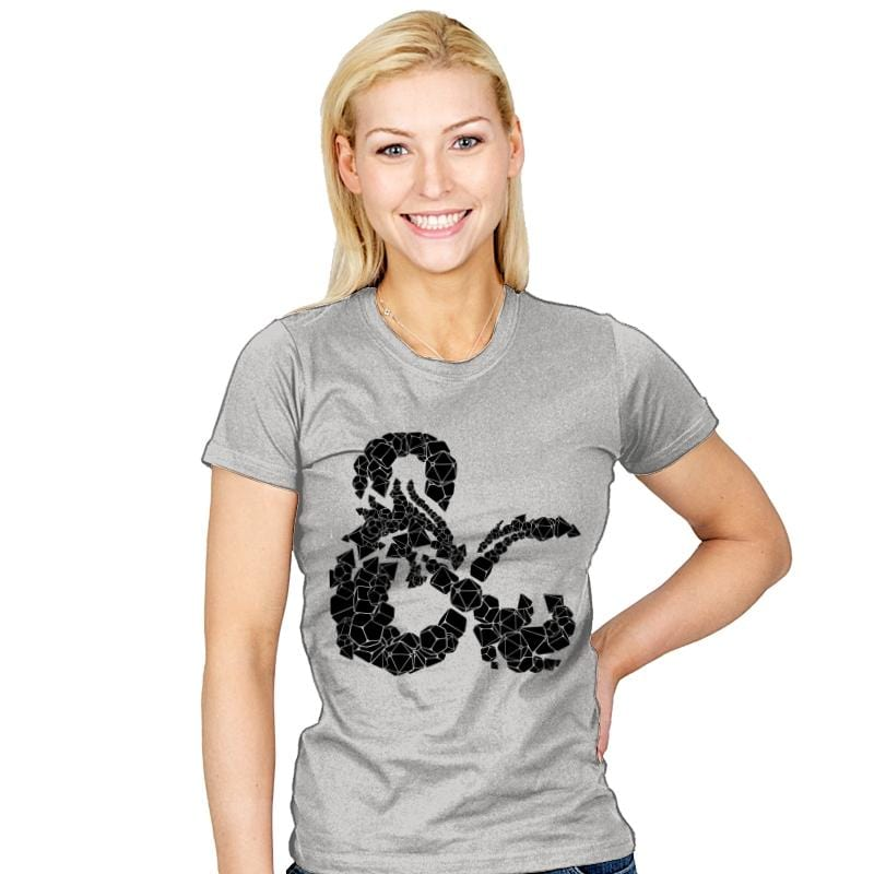 Dice & Dragons - Womens - T-Shirts - RIPT Apparel