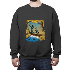 Black P. And Golden Jag - Crew Neck Sweatshirt - Crew Neck Sweatshirt - RIPT Apparel