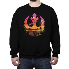 Rebellion Sunset - Crew Neck Sweatshirt - Crew Neck Sweatshirt - RIPT Apparel