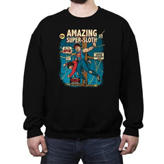 Super-Sloth - Crew Neck Sweatshirt - Crew Neck Sweatshirt - RIPT Apparel