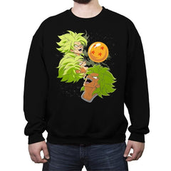 Three Broly Moon - Crew Neck Sweatshirt - Crew Neck Sweatshirt - RIPT Apparel