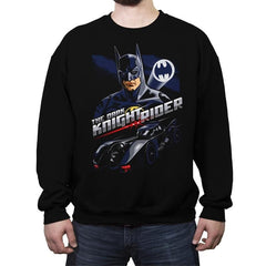 The Dark Knight Rider - Crew Neck Sweatshirt - Crew Neck Sweatshirt - RIPT Apparel