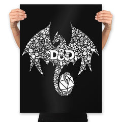 Mosaic Dragon - Prints - Posters - RIPT Apparel