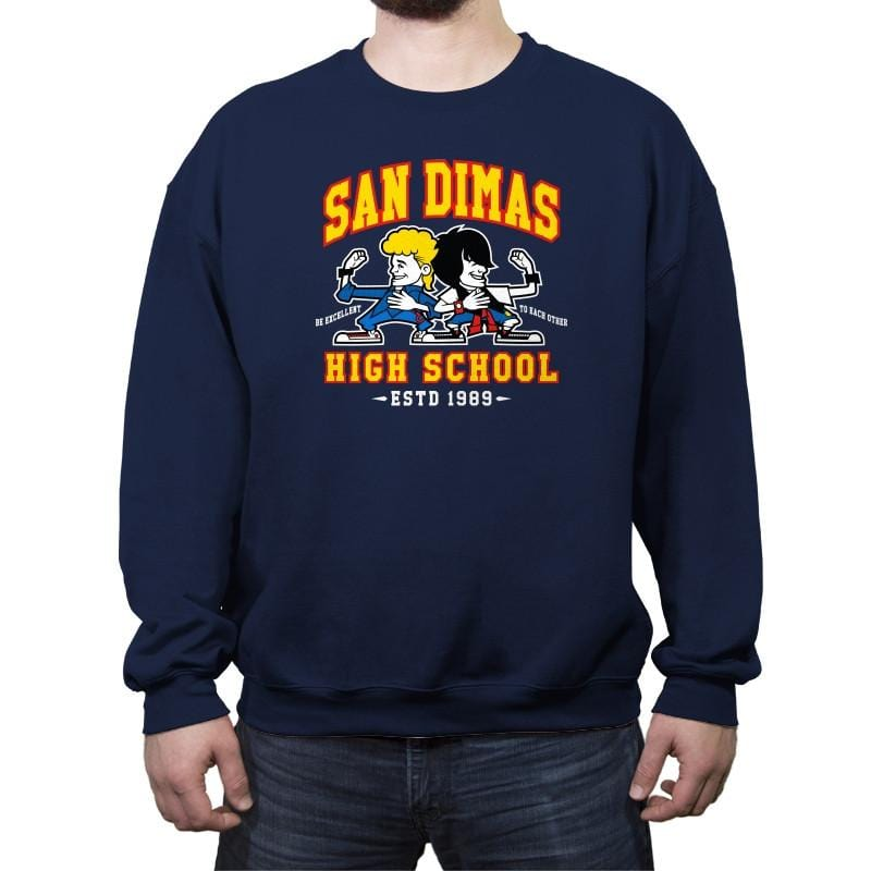 San Dimas High School - Crew Neck Sweatshirt - Crew Neck Sweatshirt - RIPT Apparel