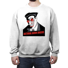 Natural Born Jokers - Crew Neck Sweatshirt - Crew Neck Sweatshirt - RIPT Apparel