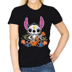 Calavera Alien - Womens - T-Shirts - RIPT Apparel