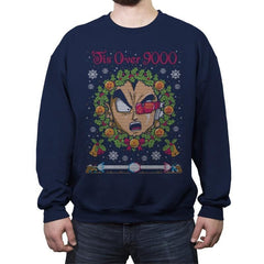 Tis' Over 9000 - Ugly Holiday - Crew Neck Sweatshirt - Crew Neck Sweatshirt - RIPT Apparel