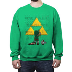 Link Graffiti - Crew Neck Sweatshirt - Crew Neck Sweatshirt - RIPT Apparel